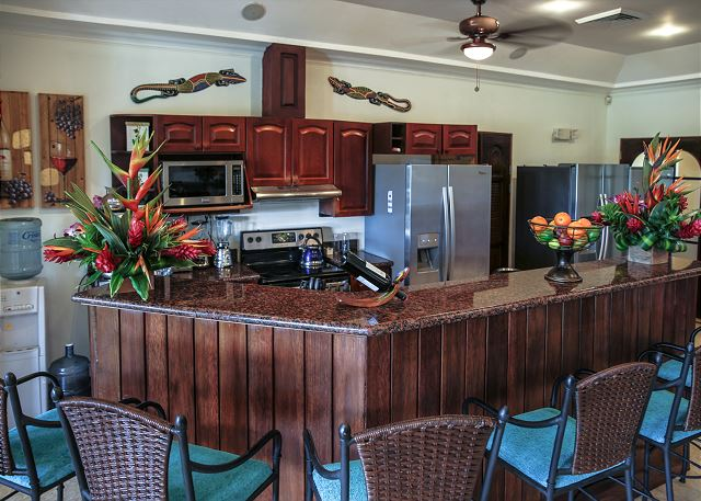 Large kitchen with excellent hardwood fixtures