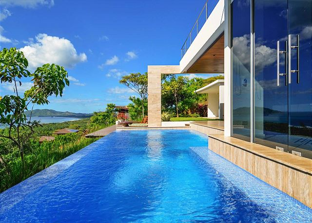 The infinity pool overlooks Playa Tamarindo and Playa Grande