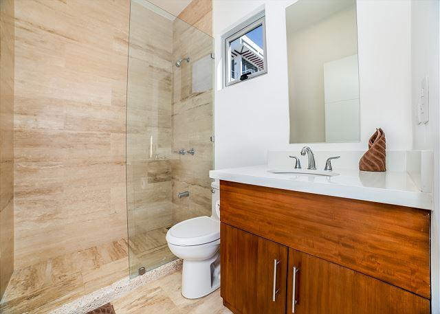 Exquisite modern bathroom inside the casita