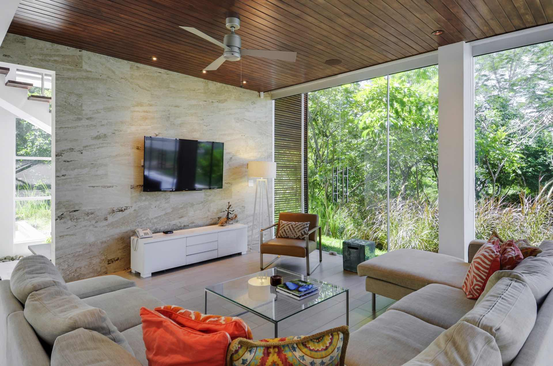 Spacious living area with lots of natural light