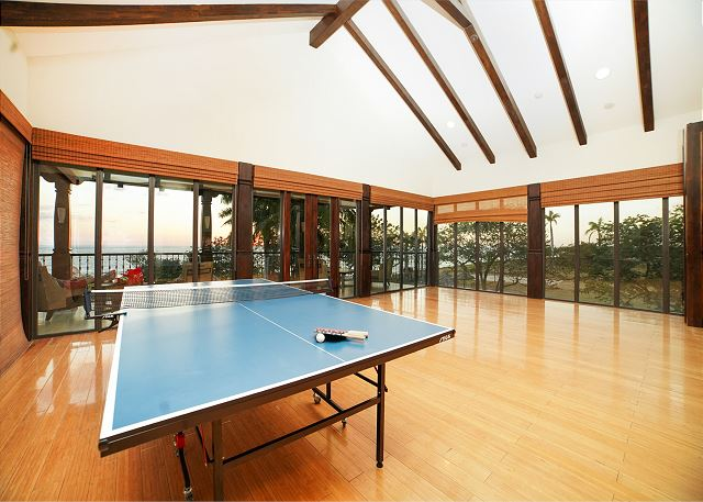 Grab a mat and do some yoga or play ping pong at the beach club&