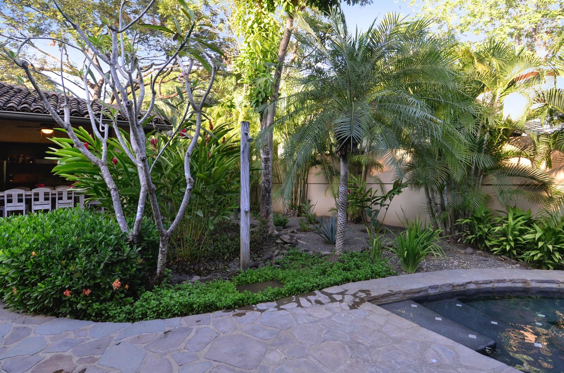 Tropical garden area at Hacienda del Pacifico