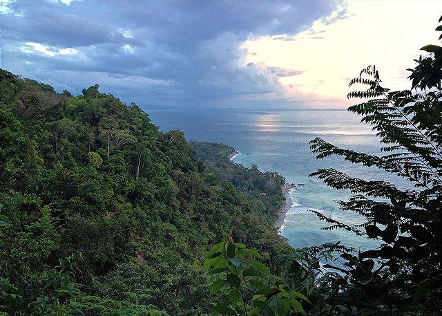 Beautiful View of the Costa Rican coastline from our jungle home