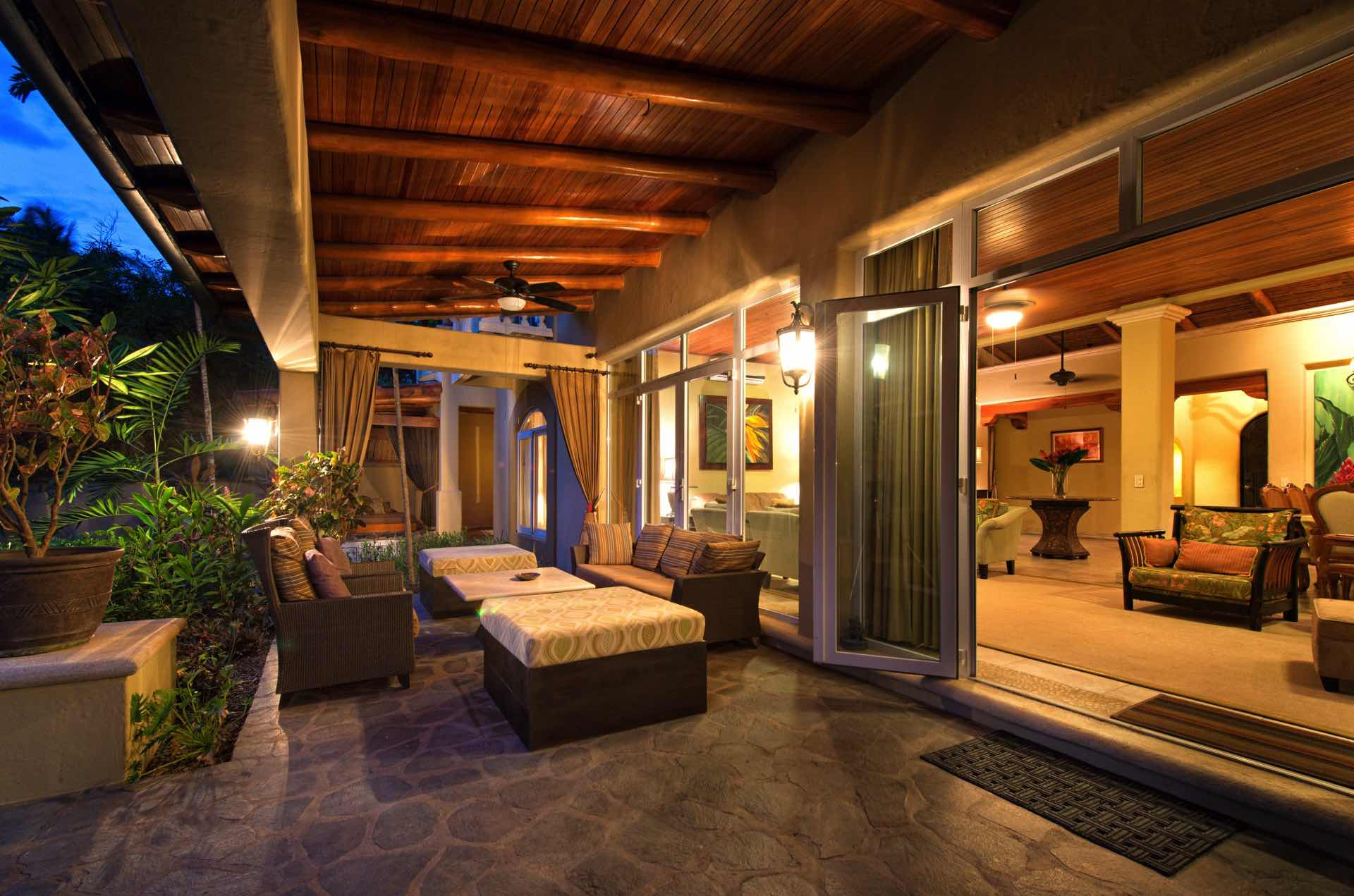 Spend peaceful evenings relaxing on the patio in paradise