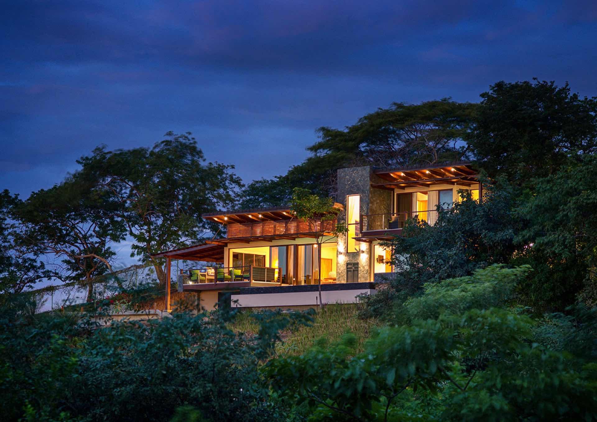 Casa Ventanas at dusk