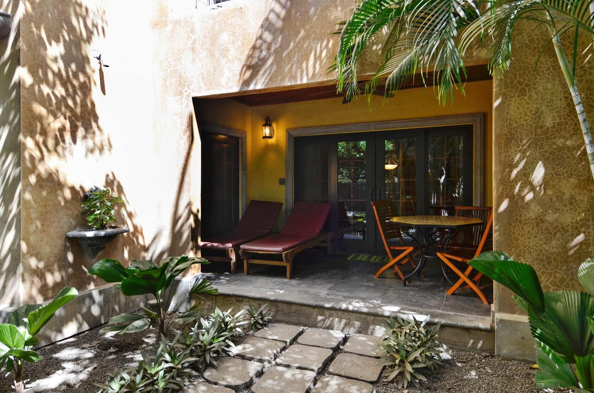 Small private patio of our condo