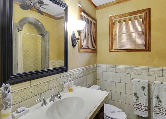 Well appointed bathroom