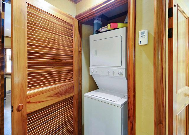 Washer and dryer included in the condo