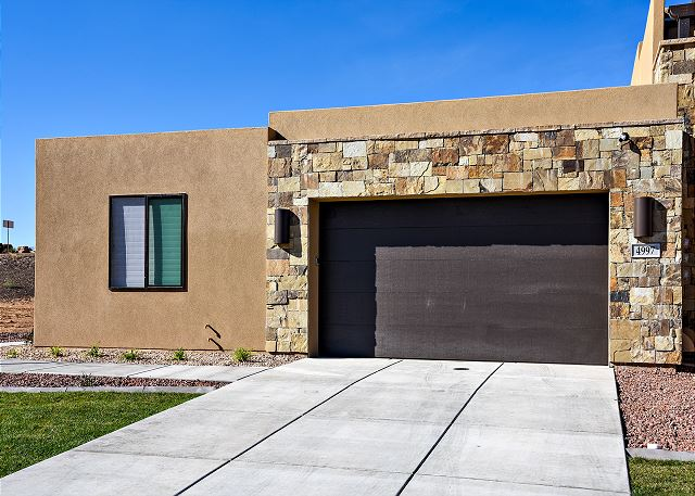 The Front View highlights the two-car garage and welcomes you to our beautiful home.