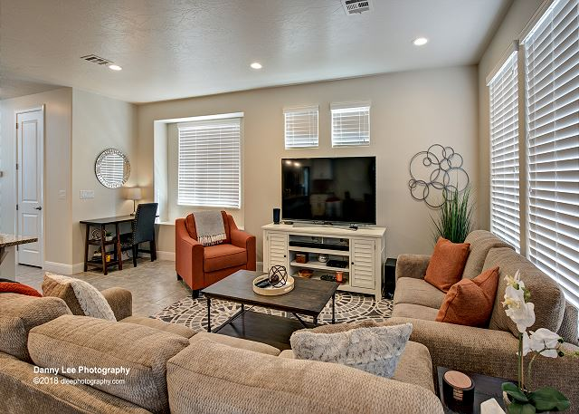 Enjoy watching your favorite TV program or movie while relaxing in the Living Room.