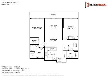 显示公寓平面图
