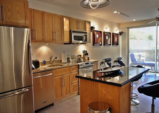 great modern and fully equipped kitchen