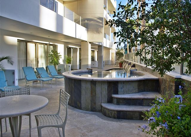 Common area pool and jacuzzi great for relaxing after a long day