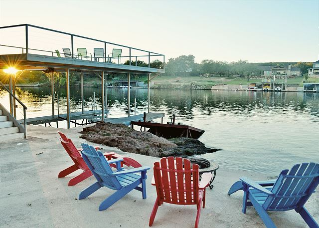 Enjoy magical sunsets on the water from the lower deck or above the dock on the sun deck.