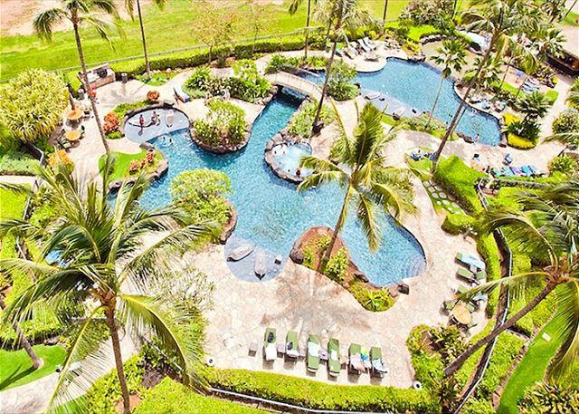 Aerial Shot of Ko Olina Lagoon Pool