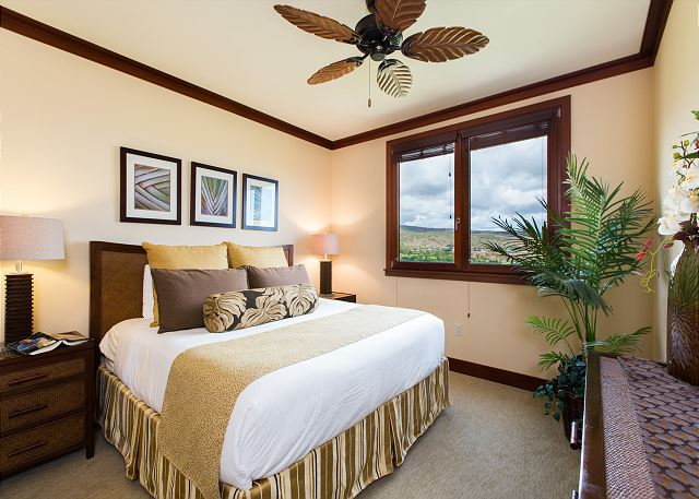 Master Bedroom with Golf Course & Mountain Views