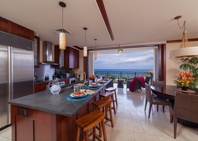 View of the ocean from kitchen