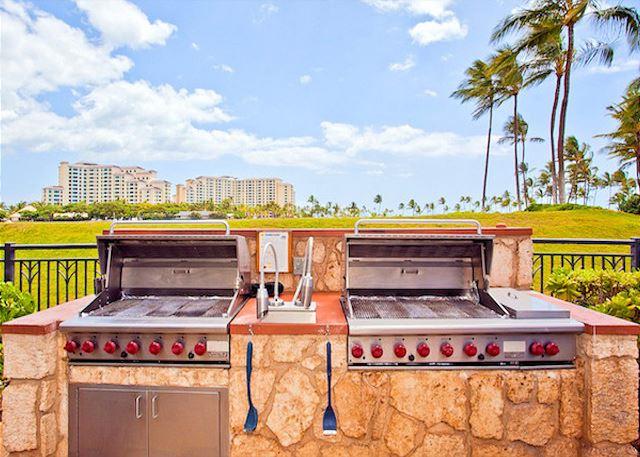 Shared BBQ grills