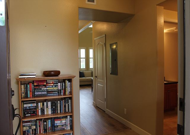 Entryway. Laundry room to the left, main floor bedroom and bathr