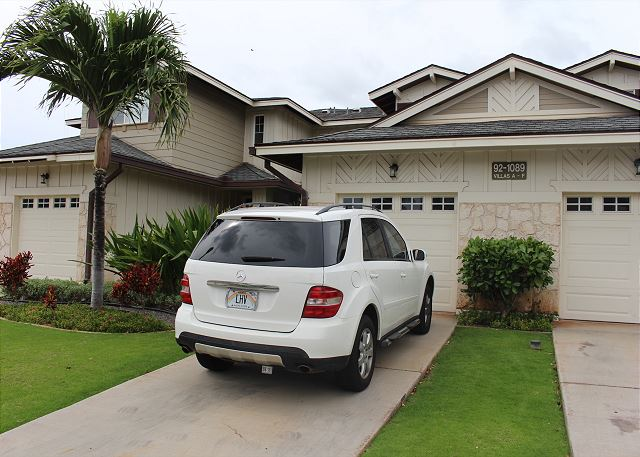1 car garage and 1 car parking in drive-way