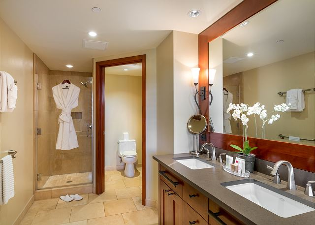 Master Bathroom with with separate tub and shower