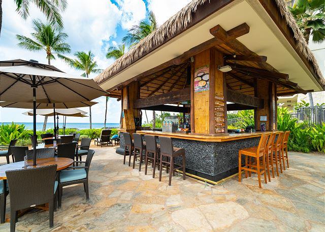 Poolside beach bar