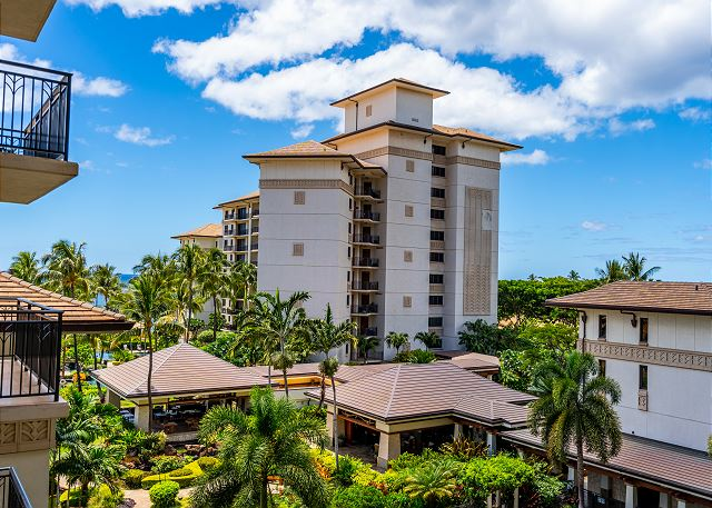 View of beach tower from lanai