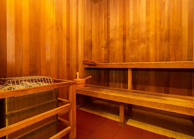 Sauna at fitness center