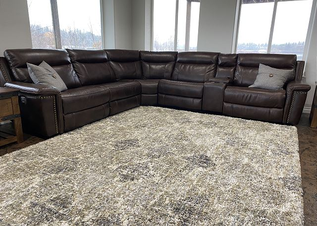 Family Room reclining sectional sofa