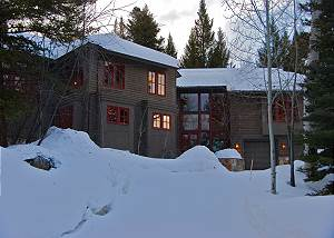 Exterior- Front of house in the Winter