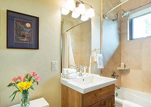 Guest Bathroom - Combined Shower and Tub