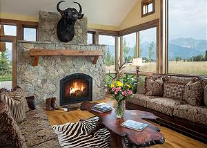 Great Room - Stone Fireplace