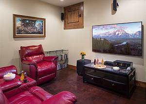 Media Room - Leather Recliners and the Big Screen
