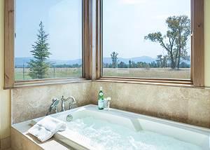 Master Bathroom - Jacuzzi Tub and Nature Views