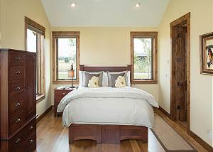 Guest Bedroom - Bed and Wooden Accents