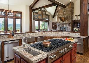 Kitchen - Gas Range and Granite Countertops