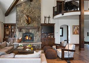 Great Room - Fireplace and Second Floor
