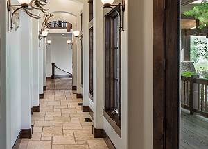 Hallway - Stone Floors and Arched Ceiling