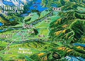 Map of the Jackson Hole