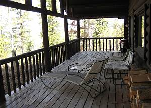 Deck - Seating and Forest Views