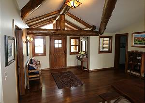 Entryway -  Wood beams
