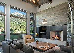 Great Room - Fireplace and Coffee Table