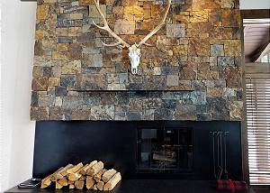 Fireplace - Stone and Metal, Wood, and  Bone