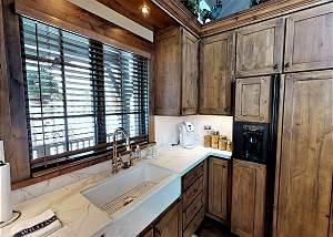 Kitchen - Sink and Fridge