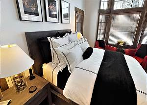 Master Bedroom - Close-up of Bed and Nightstand