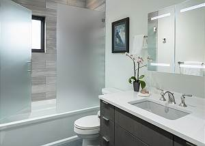 Guest Bathroom - Sink and Bathtub