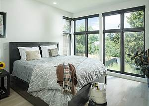 Master Bedroom - King Bed and Wide Windows