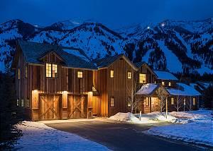 Exterior - Snow-capped evening