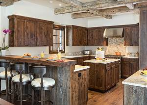 Kitchen - Reclaimed Wood Fixtures