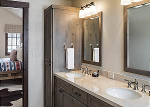 Guest Bathroom - Cabinet and Sink